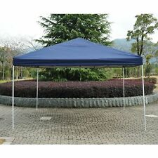 Outsunny 13'x13' Easy Pop Up Canopy Shade Cover Party Tent Outdoor Gazebo Blue