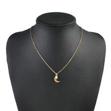 Boho Gold Silver Color Invisible Chain Pearl Moon Choker Necklace Women Jewelry
