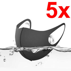 [5-Pack] Washable Reusable Breathable Flexible Face Covering Mouth Mask