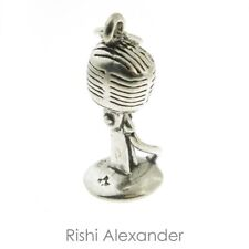925 Sterling Silver Old School Microphone Charm Made in USA
