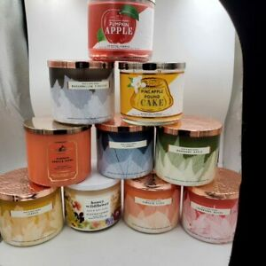 Bath and Body Works 3 Wick Autumn 2021 Candles
