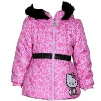 Hello Kitty Infant/Toddler Girl's Puffer Fleece Lined Pink Winter Jacket Sz. 2T