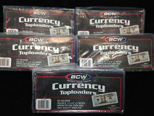 Regular Size TOP LOAD Rigid Currency Holders LOT of 125 NEW!