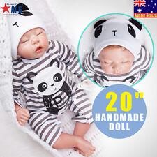 "20"" Reborn Sleeping Baby Handmade Lifelike Baby Boy Doll Silicone Vinyl Newborn"
