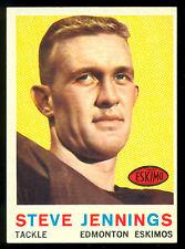 1959 TOPPS CFL FOOTBALL #38 STEVE JENNINGS NM EDMONTON ESKIMOS OAKLAHOMA UNIV