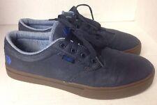 ETNIES Jameson 2 Eco Canvas Navy GUM Soles Skate Shoes US 9