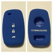 BLUE SILICONE CAR FLIP KEY COVER CASE VE COMMODORE HOLDEN REMOTE MALOO SS V8 SV6