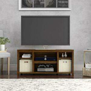 "Mainstays Parsons Cubby TV Stand for TVs up to 50"", Canyon Walnut"