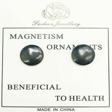 MAGNETIC THERAPY HEMATITE UNISEX STUD EARRINGS WHOLESALE JOBLOT 30 PAIRS BNIP
