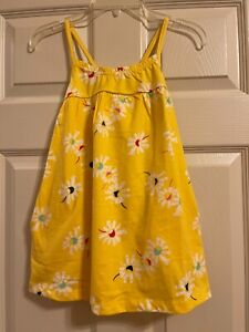 Hanna Andersson Yellow Floral Dress Girls Size 110 5