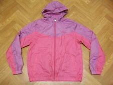 Retro FILA Pink Light Hooded Jacket Wind Breaker Vintage Track Shell Small (14)