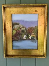 impressionist Oil painting Lakescape Gorgeous Gilt Frame