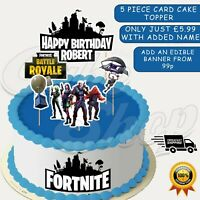 FORTNITE THEMED PERSONALISED BIRTHDAY CAKE TOPPERS