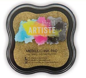 Stempelkissen Stamp INK Pad Artiste Docrafts auf Wasserbasis goldfarben