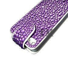 Luxury Sparkle Gem Diamond Bling Flip leather case cover for Apple Samsung Sony