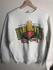 Classic Vintage Russell  University Of Michigan Rose Bowl Sweatshirt 1993