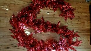 9' Deluxe Red Tinsel Fir Look Christmas Garland