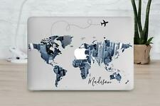 Wolrd Map Monogrammed Case For Apple Macbook Air 13 2018 Pro 13 15 2019 Sleeve