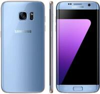 Samsung Galaxy S7 edge - 32GB - Blue (Factory GSM Unlocked; AT&T / T-Mobile)