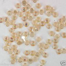 ca. 100 Strasssteine Pastell Orange Irisierend, Grösse: 1,5mm, Strass, Nr. C46