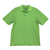 Ben Hogan Performance Golf polo Shirt Mens Sz L Large Green Striped Short Sleeve