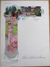 Grand Marnier 1910 Art Nouveau French Advertising Menu-Duchesse de Dino-Valencay