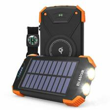 BLAVOR Solar Charger Power Bank 18W, QC 3.0 Portable Wireless Charger