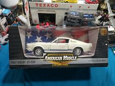 1967 Ford Mustang Shelby GT-350 WHITE ERTL American Muscle 1:18 Scale BEAUTIFUL