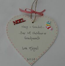 BABY'S FIRST1st CHRISTMAS DECORATION FOR GRANDPARENTS personalised  large 15cm