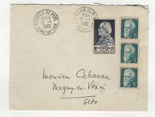 France 4 timbres sur lettre 1962 tampon Fontenay St Pierre /L430