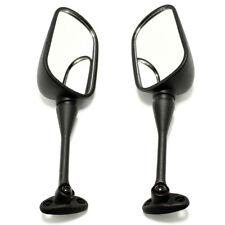 Black Motorcycle Oval Mirrors For Suzuki GSXR600 GSXR1000 2005-2010 06 07 08 09