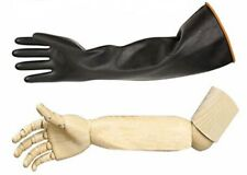 """Heavy Duty Latex Gloves Resist Strong Acid Alkali And Oil 22"""" Pair"""