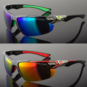Men Polarized Fishing Golf Hunting Sport Sunglasses Green Blue Red 5 Colors
