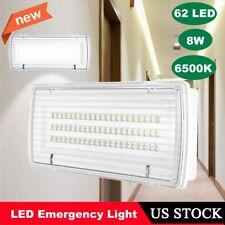 62 LED 8W Emergency Bulkhead Light Waterproof Rechargeable Aid Lighting 6500K US