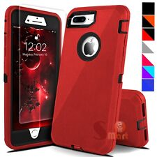 For iPhone 6 6s 7 8 Plus SE 2 Defender Shockproof Cover Case + Screen Protector