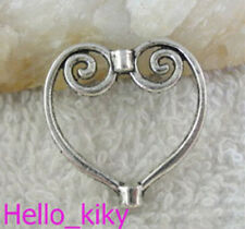 60pcs Tibetan silver spiral heart bead frame A10424