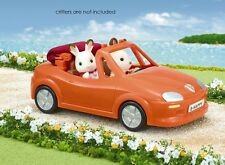 Calico Critters RED CONVERTIBLE CAR w REAL RETRACTABLE HOOD ~NEW~
