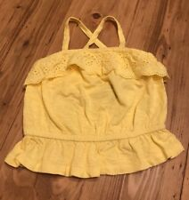Yellow Eyelet Peplum Top Summer Girls Infant 12-18 Months Old Navy
