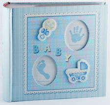 Baby Boy Photo Album with Embellishments on Cover | Baby Shower Gift | Keepsake