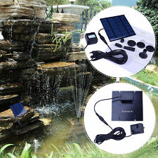 Super Solar Water Pump Power Panel Kit Pool Garden Pond Submersible Watering Us