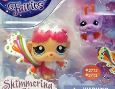 Littlest Pet Shop Shimmering Sky Fairy Rain Prism #2712 & a Bat #2713 New LPS