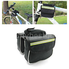Cycling Bicycle Bike Top Frame Tube Pannier Saddle Bag pocket Front Double