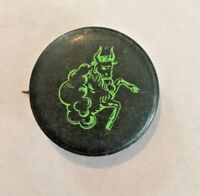 Vintage 1960's Black and Green Pinback Button