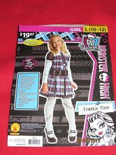 "New Girls Rubies Monster High ""Frankie Stein"" Halloween Costume Size L( 10-12)"