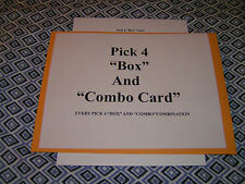 """Lottery System Pick 4 """"BOX""""and""""Combo"""" Card, Every Possible Combination"""