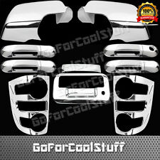 For Ford Explorer 07-09 Chrome Mirror Doors W/O Psg Kh Tailgate Taillight Covers
