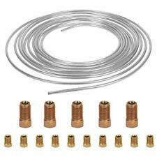 25 ft 3/16 inch Brake Line Zinc Plated Replacement Tubing Kit with 16 Fittings