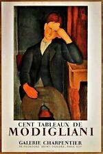 MODIGLIANI Amadéo * LE JEUNE APPRENTI *  MOURLOT * 1958 * Affiche lithographique