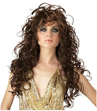 Synthetic Role play Reenactment or Crossdresser Long Brunette Costume Wig