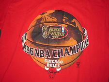 Vtg 1996 NBA World Champions Chicago Bulls Jordan,Pippen,Rodman T-Shirt XL Rare